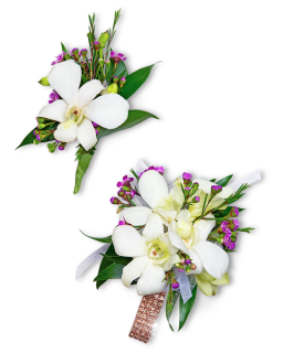 Flawless Corsage and Boutonniere Set