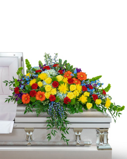 Vibrant Life Casket Spray
